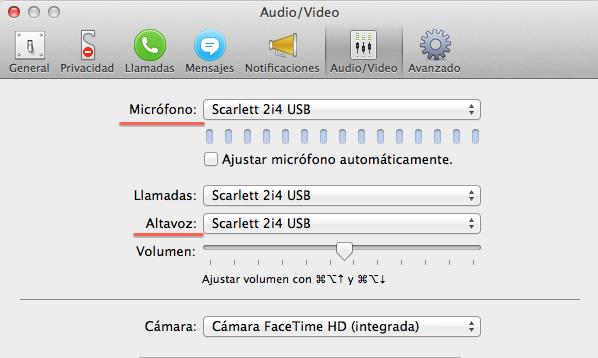 Configuración Skype Locutor